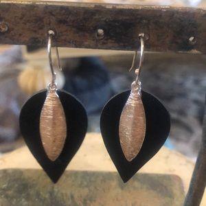 Silpada Sterling Silver & Leather Earrings